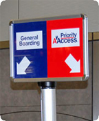 PriorityAAccess Gate Sign