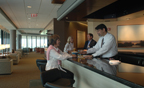 Bar area at BNA Admirals Club