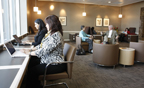 Relax or work from the Admirals Club lounge