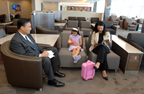 Relax before or after a flight at the JFK B Admirals Club