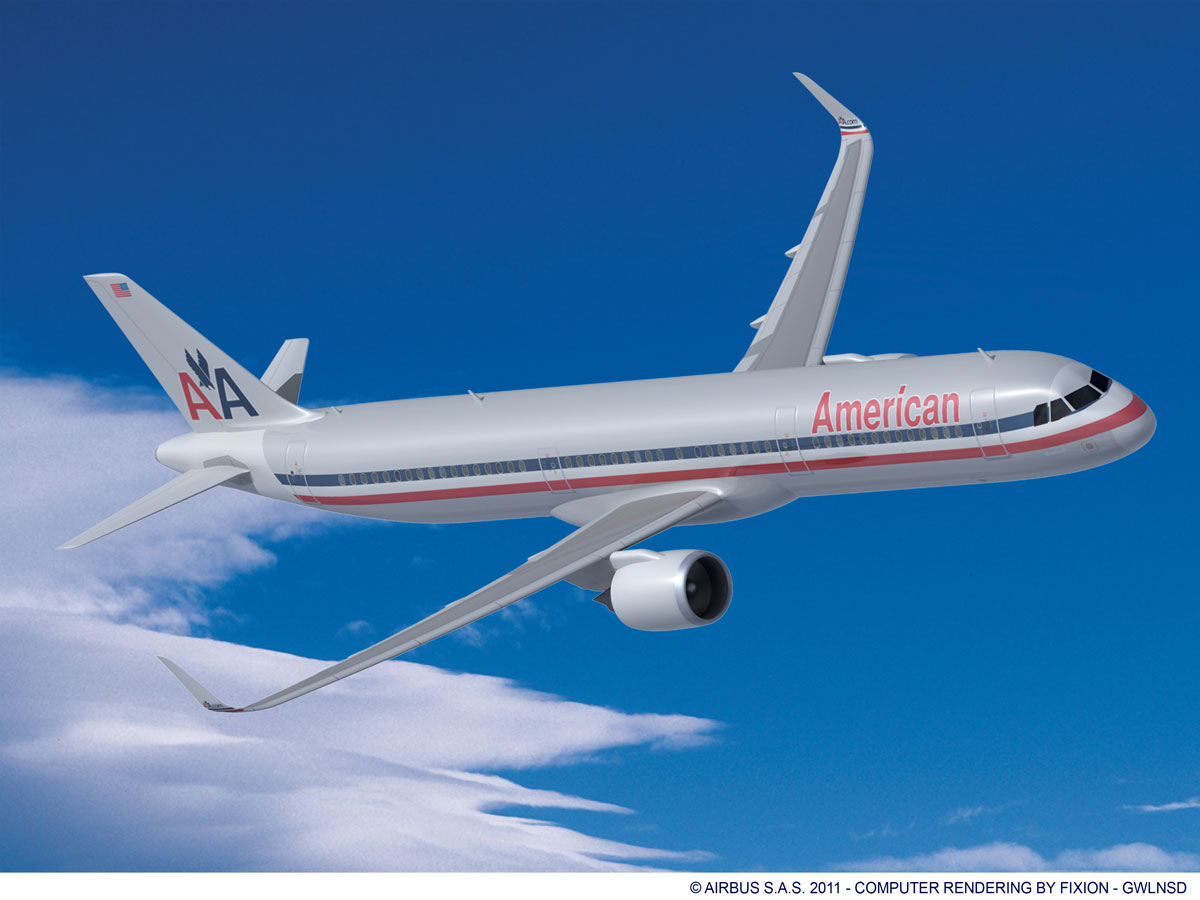 Aa s huge aircraft order claims 35 gain in fuel efficiency for American airlines plane types