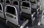 New 777-300E - Seats throughout Economy Class are designed to improve overall customer comfort