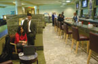 Relax or grab a bite to eat at the MIA D Admirals Club