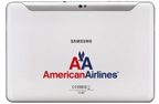 American Airlines Samsung Tablet in-flight Entertainment Device