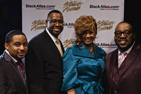 – Left to right - Gospel Singer Smokie Norful,  David Campbell, Vice President – Safety, Security and Environmental (SS&E), American Airlines , Stellar Award Hosts Dorinda Clark Cole and Marvin Sapp