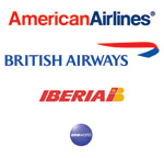 American Airlines, Britsh Airways and Ibearia Logo's