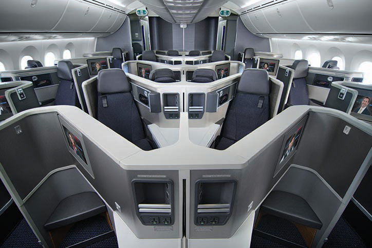 American Airlines 787 Business Class Seats; Photo courtesy of AA