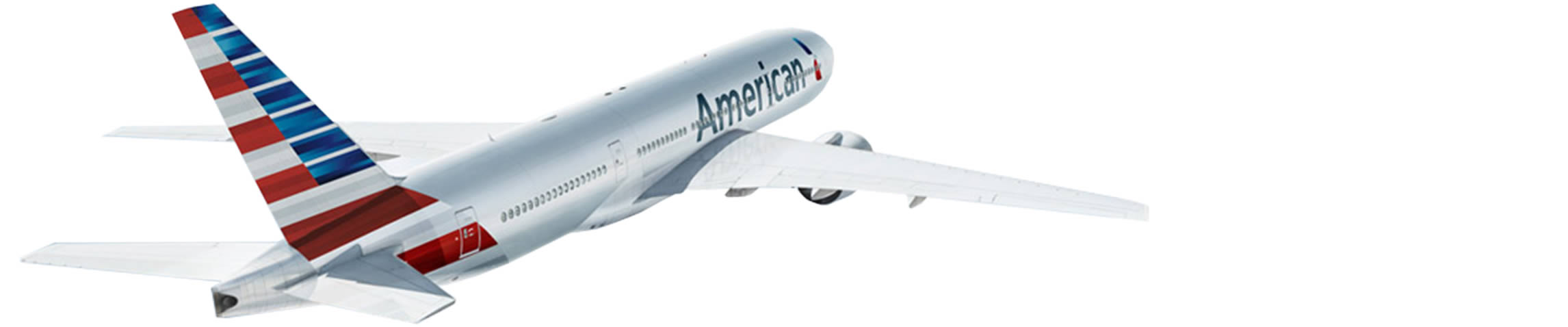 A plane with the new American livery
