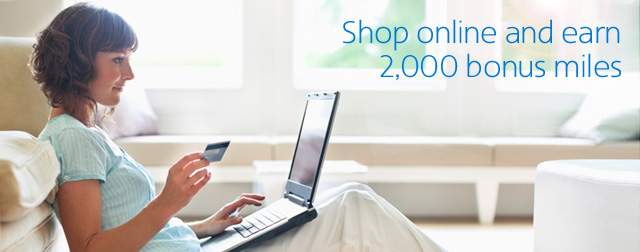 Shop and earn 2,000 miles