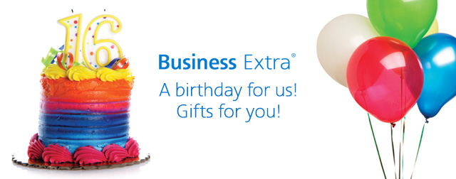 A birthday for us! Gifts for you!