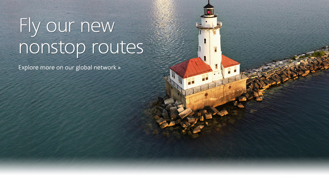 Fly our new nonstop routes