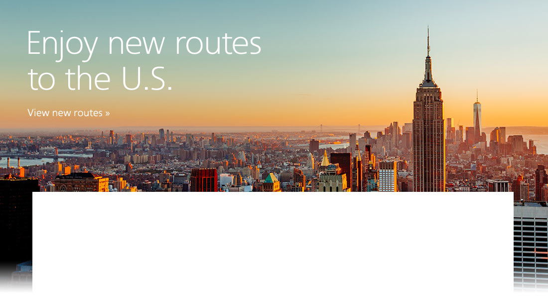 Enjoy new routes to the US