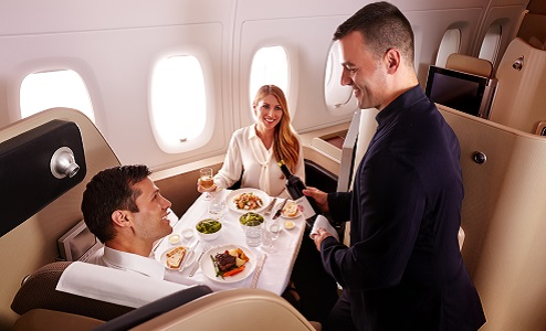 Arrive refreshed when you travel in Qantas First Class