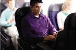 Man Using Laptop On A 737