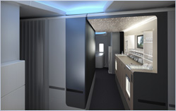 Boeing 777-300ER Entry and Premium Cabin Bar