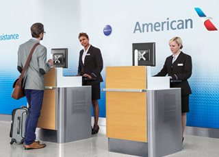 At the airport − Travel information − American Airlines American Airlines Check In