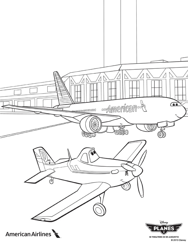 Planes coloring pages to print