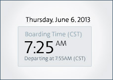 Departure Date and Time
