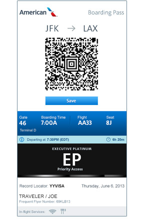 Mobile.aa.com Boarding Pass
