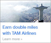 Earn double miles with TAM Airlines