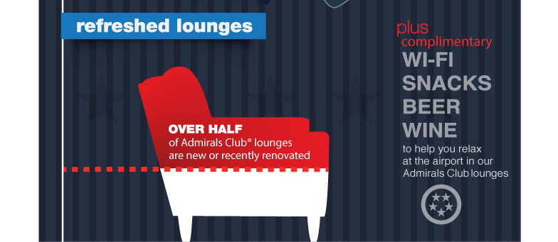 Refreshed Lounges