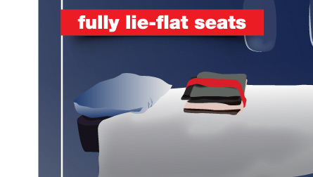 Fully Lie-Flat Seats