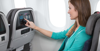 Watch live TV on select flights