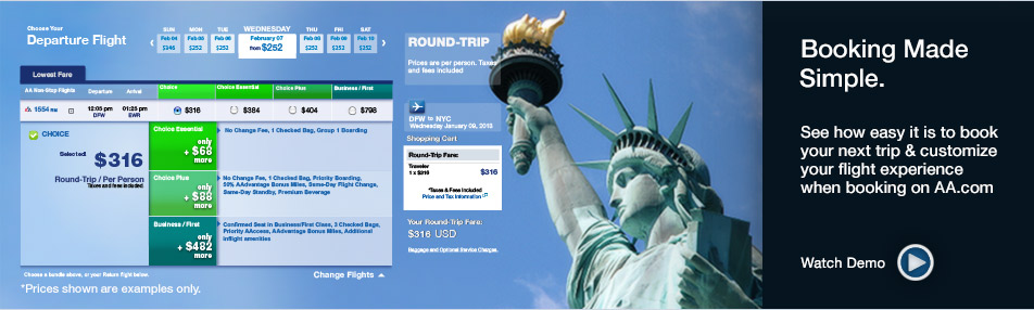 Booking Made Simple On AA.com