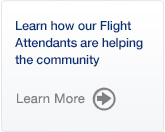 Learn how our Flight Attendants are helping the community