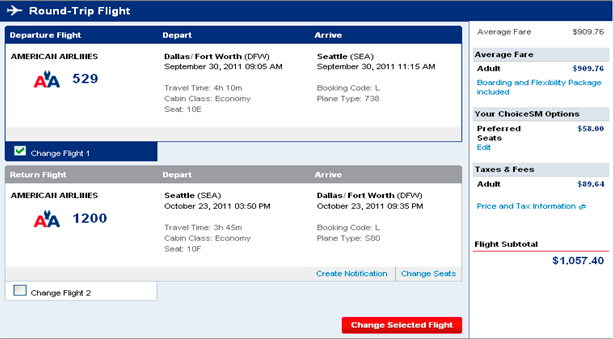 american airline reservation confirmation