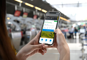 Mobile app, boarding pass and flight notifications