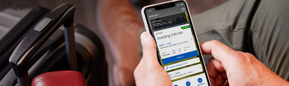 Mobile and app − Travel information − American Airlines