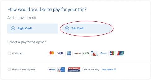 Choosing Trip Credit