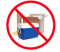 Prohibited Items Include Boxes And Coolers