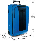 Carry-On Bags Cannot Exceed 22 Inches Long, 14 Inches Wide And 9 Inches Tall