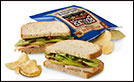 Handmade Turkey & Chutney Sandwich with Boulder Canyon Chips