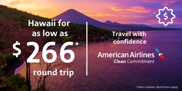 Hawaii flights from $319* round-trip